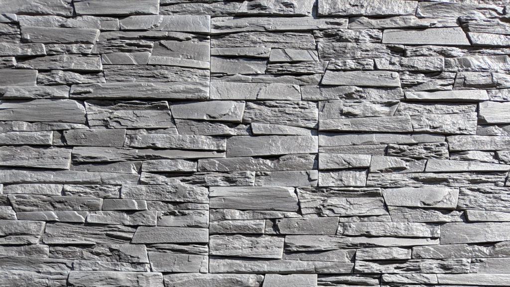 グレーのブロック壁の無料バーチャル背景素材