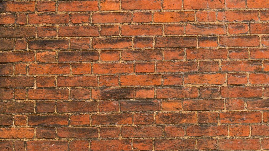 古びたレンガの壁の無料バーチャル背景素材