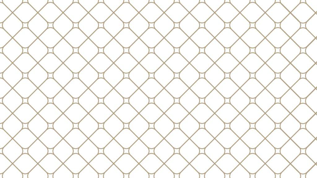 白い背景とゴールドのひし形パターンの無料バーチャル背景素材