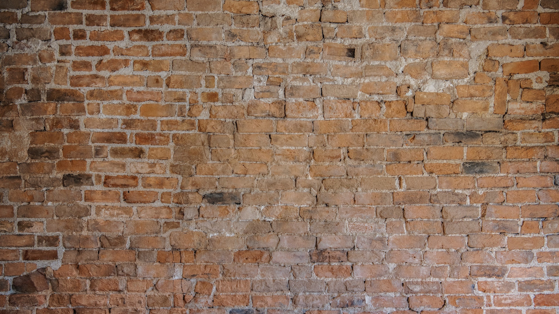 不揃いなレンガの壁の無料バーチャル背景素材