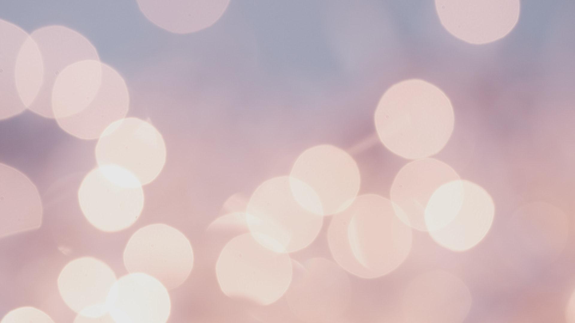ピンクゴールドの光のボールの無料バーチャル背景素材