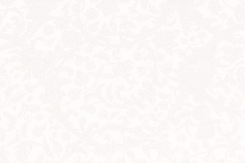 うっすらとアラベスク模様の入った白い壁紙