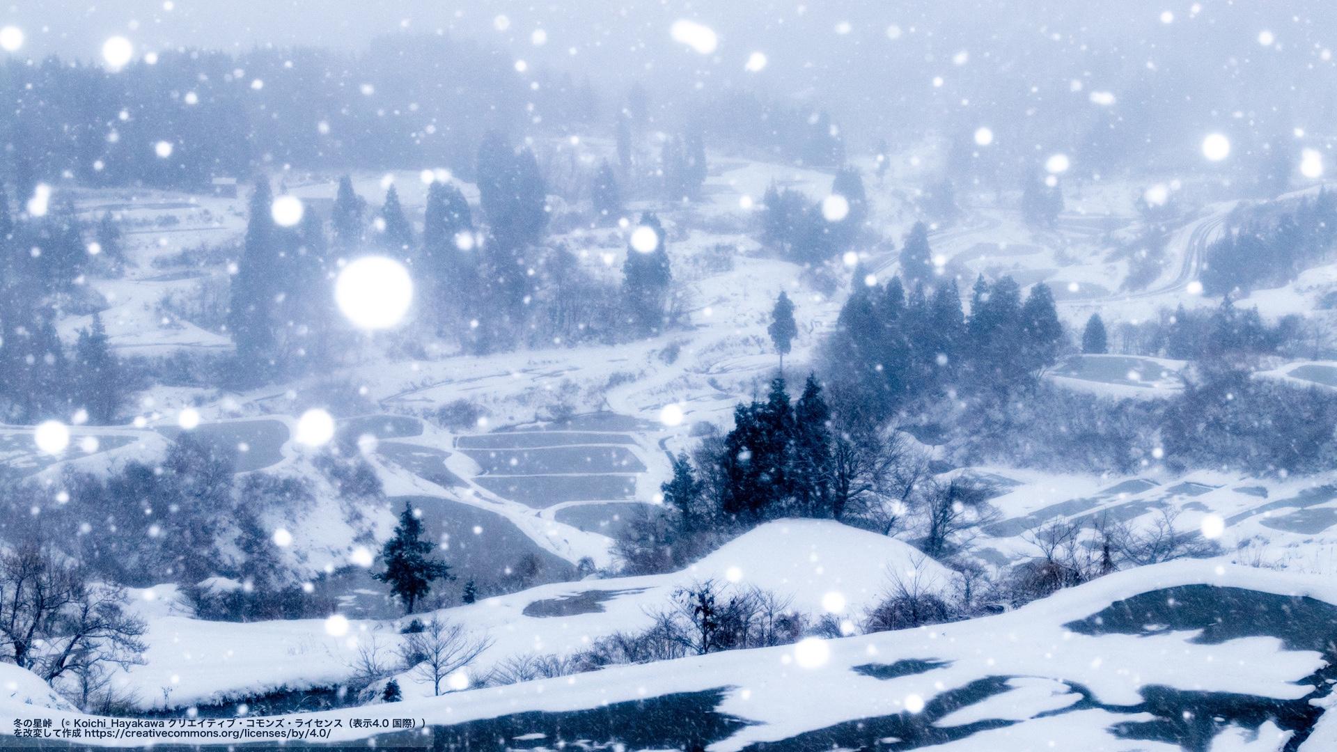 冬の星峠(新潟県)